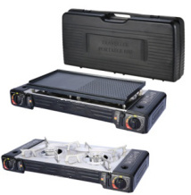 Double Burners Portable Gas BBQ Stove Cece Certified by SGS
