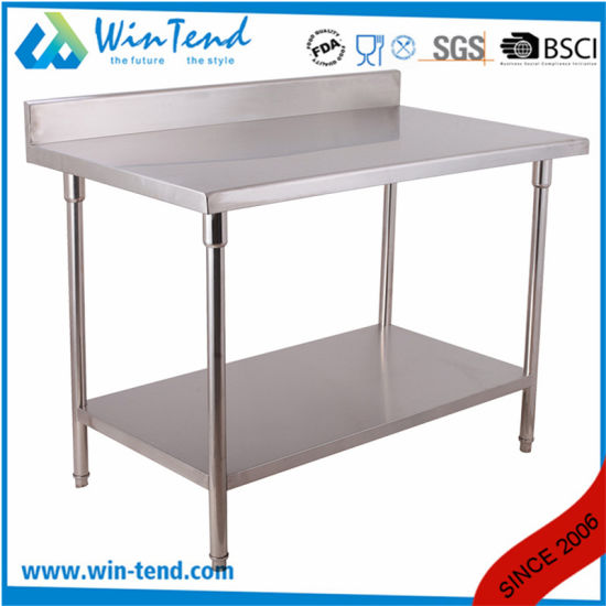 Kitchen Equipment Commercial Used Stainless Steel Work Table Workbench pictures & photos