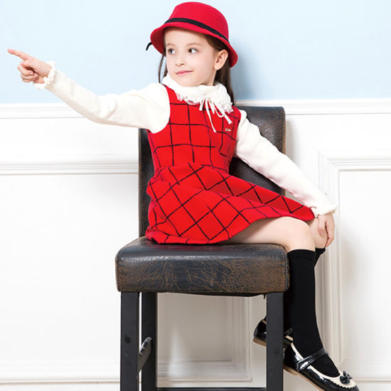 Fashion Baby Girls Plaids Blouse Dress Tops Red PP Pants Toddler Kids Outfits Set