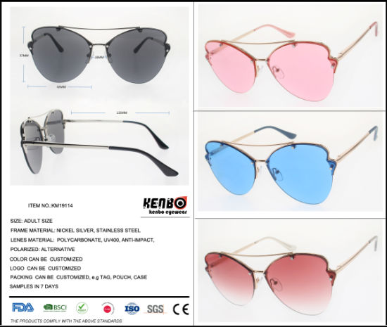 2019 New Fashion Cute Sunglass Rimless Frame, Km19114 pictures & photos