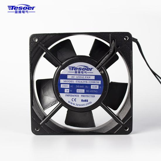 120X120X25mm Ball Bearing Axial Air Blower for Cabinet Ventilation Solar Air Conditioner (TXA25S-120)