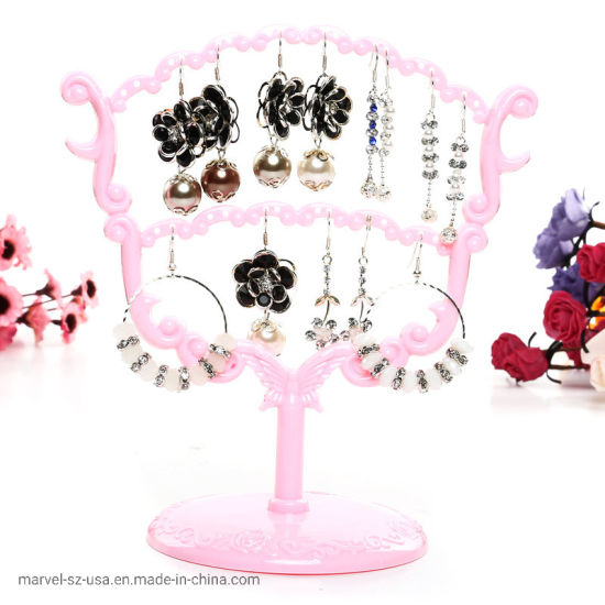 Plastic Jewelry Shelf Earrings Necklace Jewelry Display Holder Stand pictures & photos