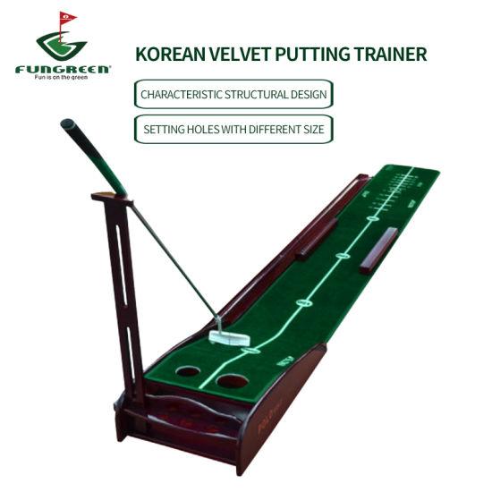 Wholesale Indoor Velvet Korean Detachable Convenient Golf Putting Training Aid