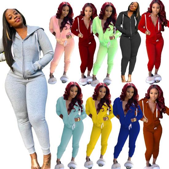 2021 Hot Sale Women's Fabric Upgrade Outfits Hoodies Sweatshirt 2 Pieces
