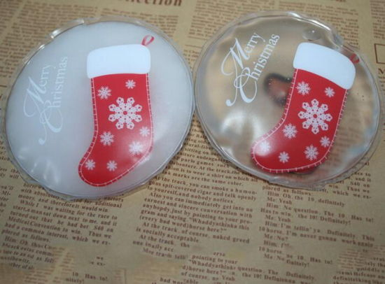 10 x Red Snowflake Design Reusable Instant Heat Pack Gel Winter Hand Warmers