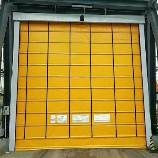 Windproof High Performance Folding up Door for Warehouse