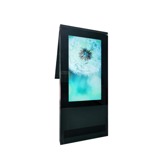 65inch Floor Standing Outdoor 2000nits Waterproof Media Advertising Poster LCD Video Player Digital Signage with Android Touch Panel