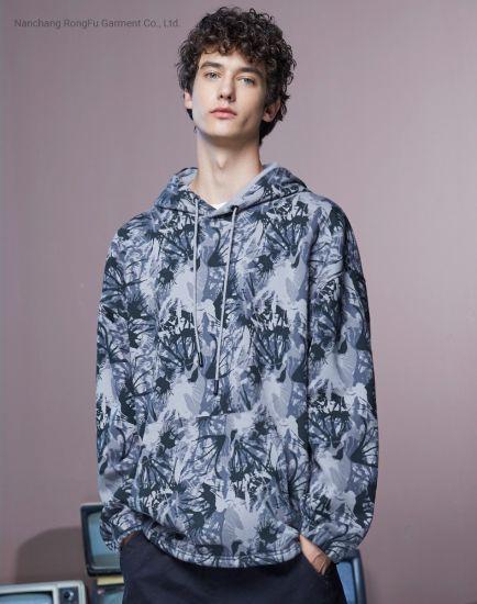 Thick Fleece Crisp Camouflage Loose Fashion Casula Hoodie Long Sleeve Men's Hoodie