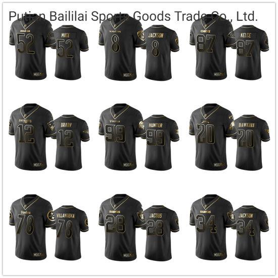 [Hot Item] Cheap Price Quick Dry Custom Football Jerseys Whtson 4 Rodgeks 12 for Sports
