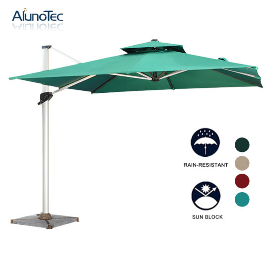 Stand Alone Outdoor Umbrella Awning Cover for Coffee Shop or Beach