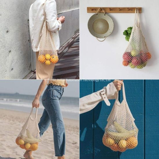 Ecology Reusable Cotton Mesh Grocery Bags Cotton String Bags Net Shopping Bags Mesh Bags