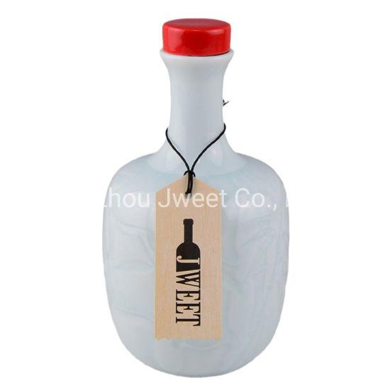 500ml 700ml Paint Colors Tequila Ceramic Bottles