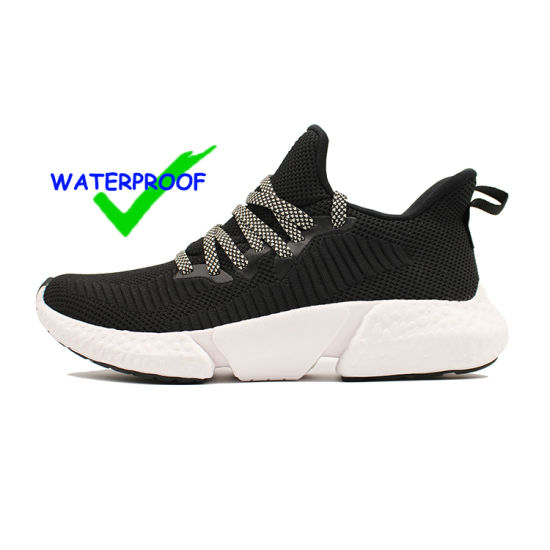 Comfortable Walking Athletic Jinjiang Factory Flying Athletic Breathable Running White Woman 3D Knitting Fabric Sock OEM Knitted Men Sneakers Waterproof Shoes pictures & photos