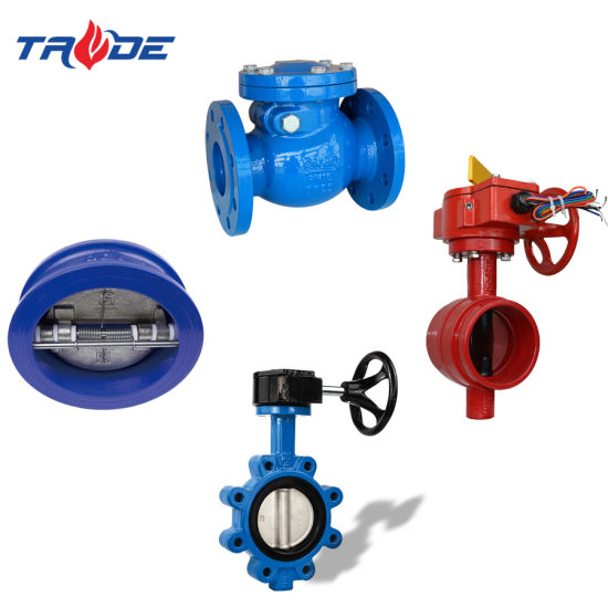 Lug/Wafer/Double Flange/Grooved End Type Industrial Soft Seat Signal Resilient Butterfly Valve/Check Valve