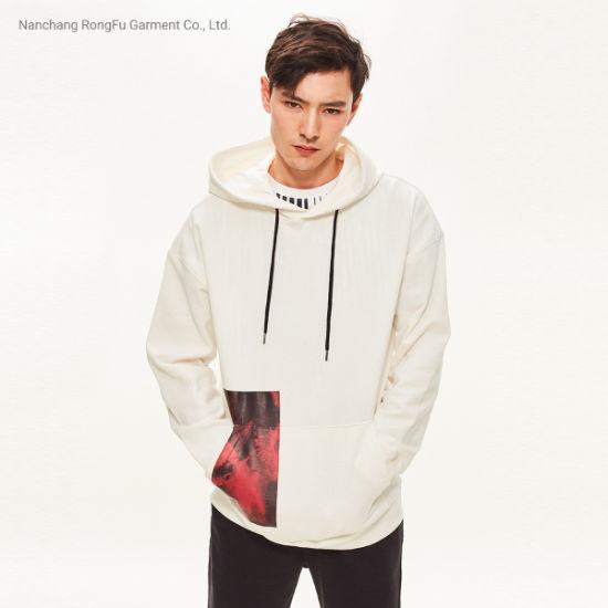 Men's Personality Planet Print Design Hoodie Raglan Long Sleeve Hoodie
