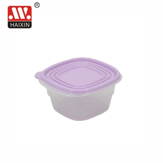 Square Microwavable Takeaway Clear Recycled Plastic Fruit Single Food Container for Kitchenware