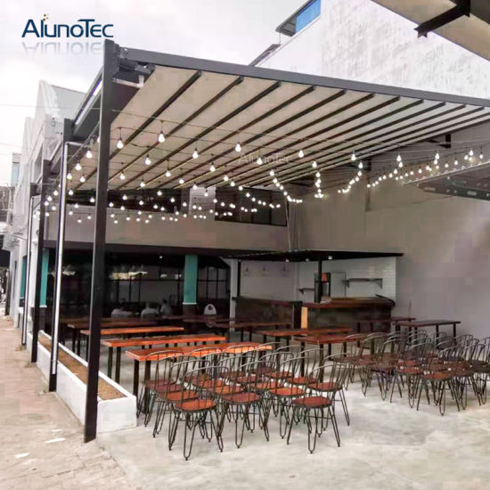Architectural Motorized Aluminum Patio Awning Retractable Pergola for Hotel