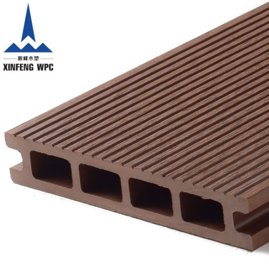 Anti-UV Extruded Wood Plastic Composite Outdoor WPC Decking