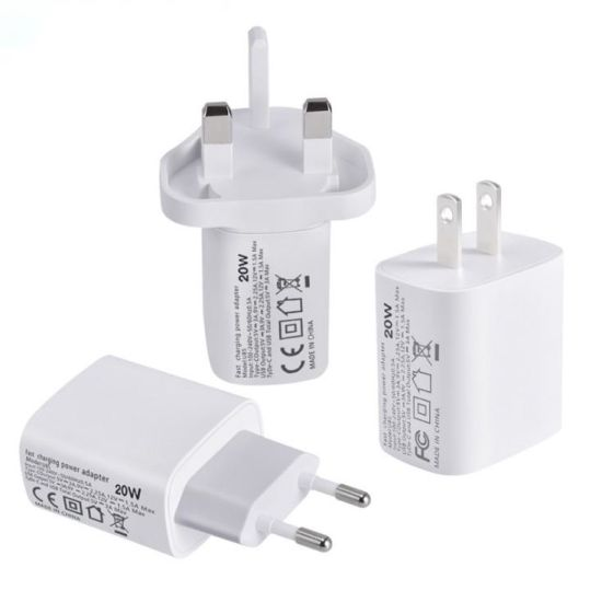 FCC/ETL/CE Dual USB Wall Charger Pd20W Charger for iPhone 12