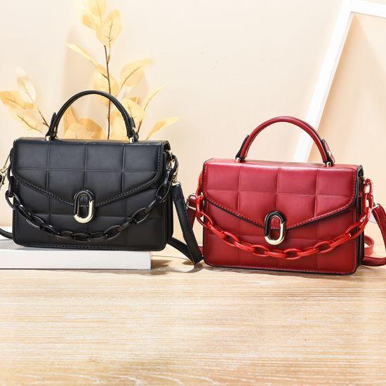 Hot Sell PU Vegan Leather Lady Fashion Designer Luxury Handbag Wholesale Market Luxury Handbag