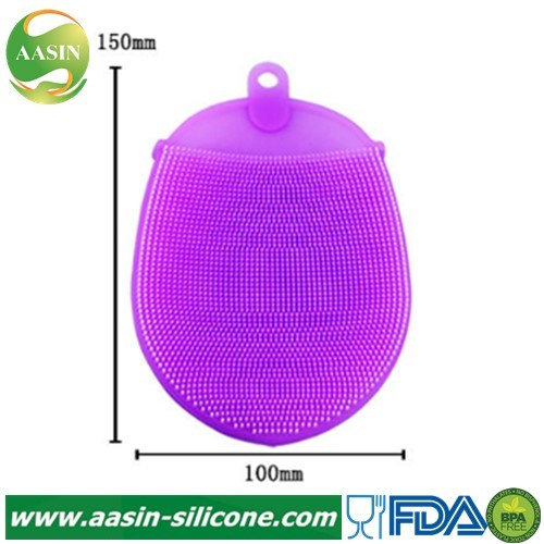 Silicone Dish Washing Sponge Scrubber Kitchen Cleaning Antibacterial Tool Mildew