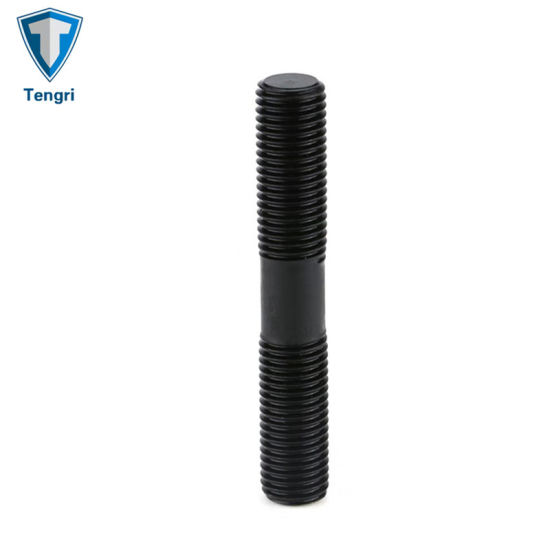 Grade 10.9 M10 Black Oxide Double End Threaded Stud Bolt with High Quality
