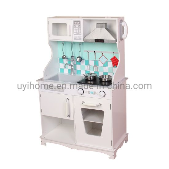 Play Kitchen with Sound&Light Hood, Cooking Plate, Water Dispenser pictures & photos