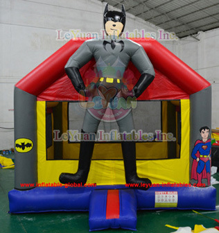 Superman PVC Inflatable Bouncers / Popular Inflatable Bouncer Factory En14960 pictures & photos