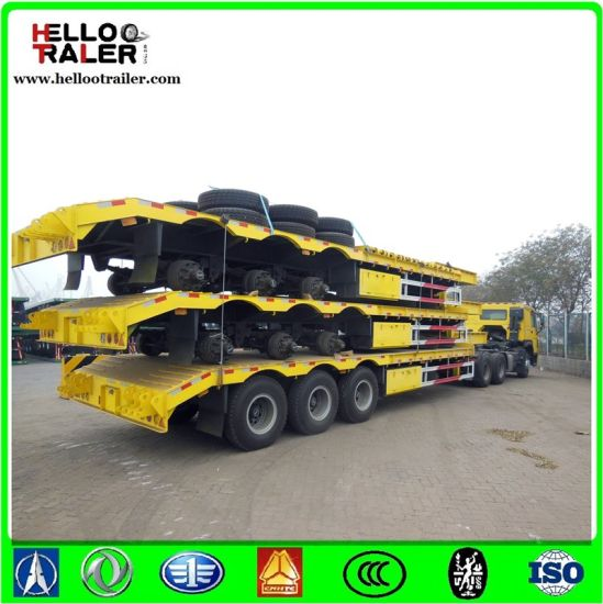 Heavy Duty Model Tri Axle 60 Tons Low Loader Trailer for Sale in Kenya pictures & photos