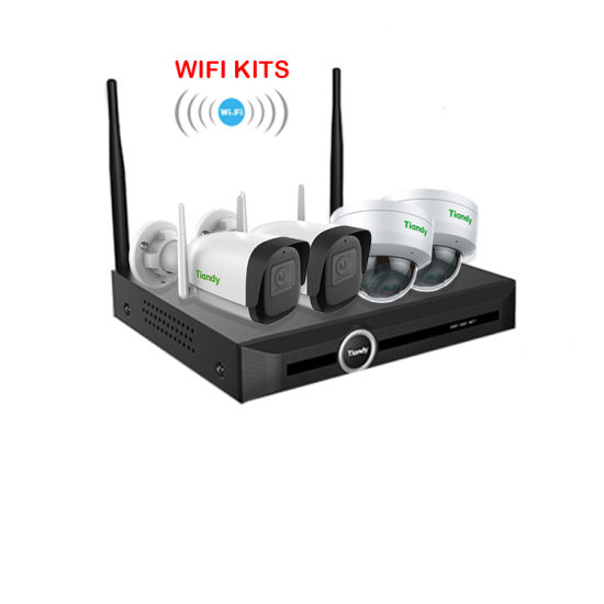 Tiandy 2020 New WiFi Kit 5CH HD IR Night Vision Video Surbeillance Wireless NVR 4PCS Outdoor Indoor 2MP WiFi CCTV System Kits Security IP Camera
