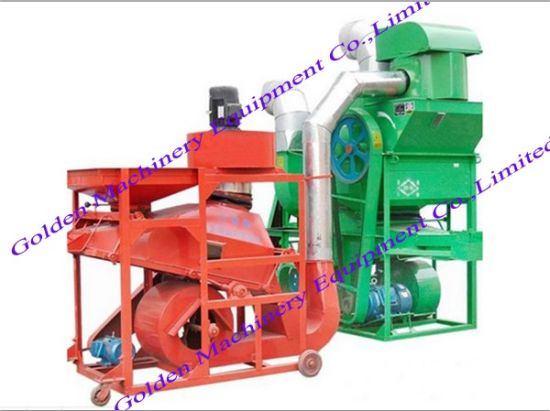 Groundnuts Peanuts Cleaning and Shelling Dehulling Machine