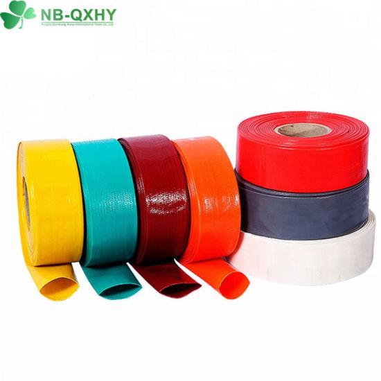 Customized Optional Colour and All Size Agriculture PVC Water Layflat Hose