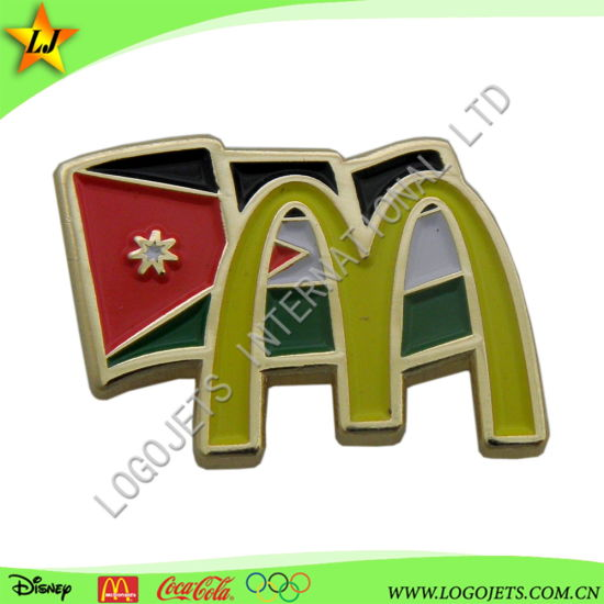 Wholesale Promotional Metal Craft Gifts Custom Soft Enamel Metal Lapel Pin with Butterfly Clutch