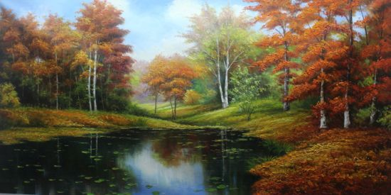 Handmade Landscape Modern Wall Art Canvas Reproduction Oil Paintings