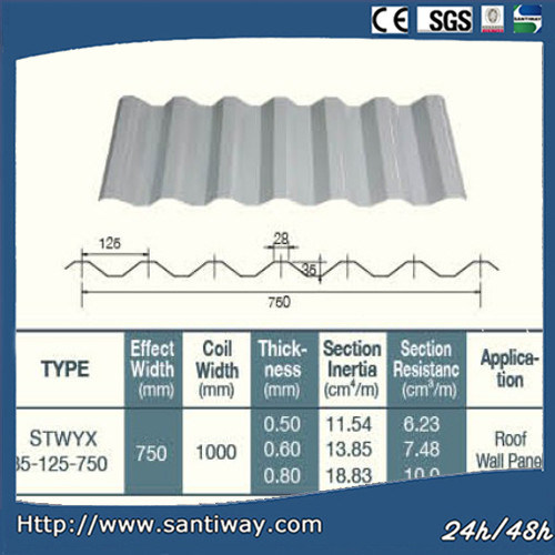 China Factory Steel Roof Color Galvanzied Corrugated Roof Plate Building Material