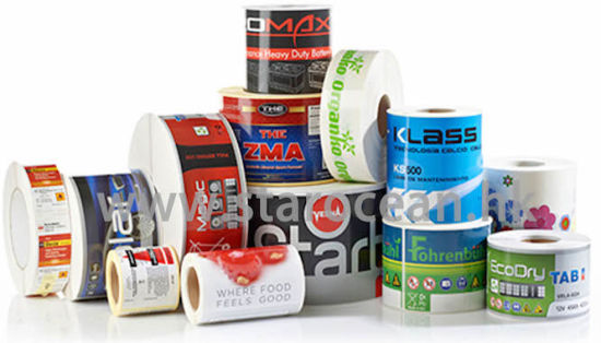 Custom printed packaging labels printing