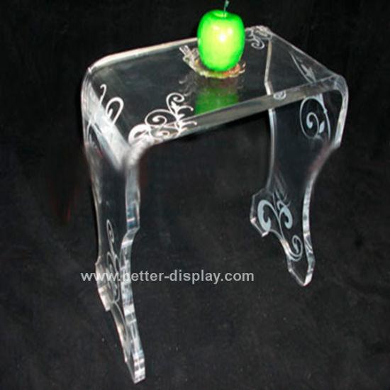 Acrylic Crystal Clear Organic Glass Chair (BTR-Q3008)