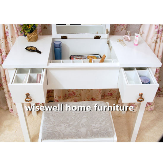 MDF European Comfortable Cosmetic Dressing Table (W HY 012)