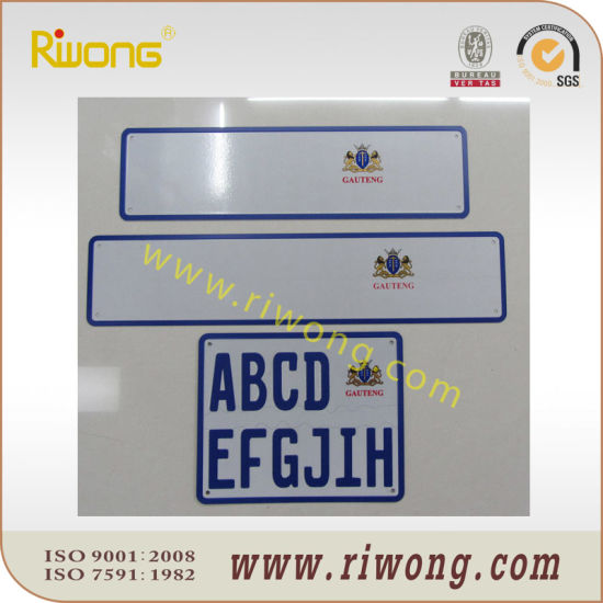 Number plate sizes