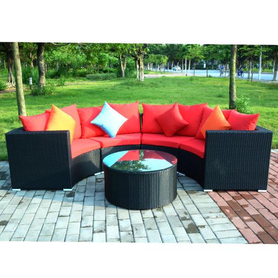 Aluminum Alloy Frame U Shape Leisure Living Room Furniture L Shape Sofa