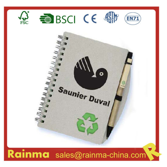 Mini Spiral Notebook with Ball Pen for School Office and Promotion
