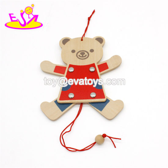 Handmade Children Play String Wooden Puppet Toys for Wholesale W01A311