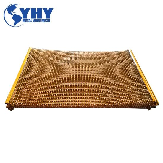PVC Coated Carbon Steel Vibrating Heavy Duty Screen Mesh for Crusher Machine