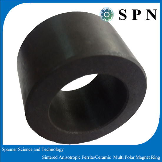 Ceramic Ferrite Sintered Multipole Ferrite Magnet Rings pictures & photos