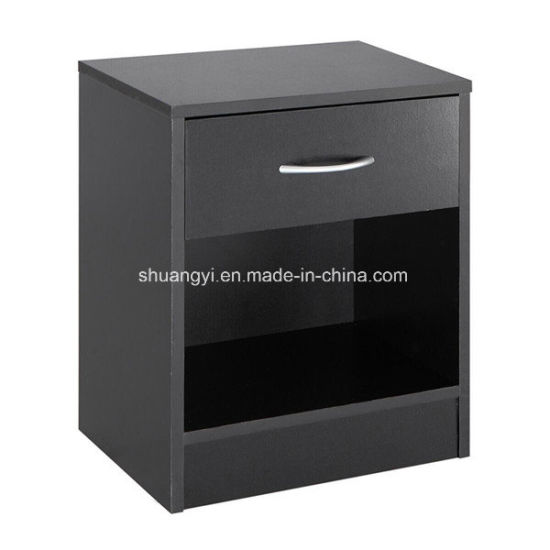 Latest Hot Sell European Design Wooden Night Stand Bedside Cabinet