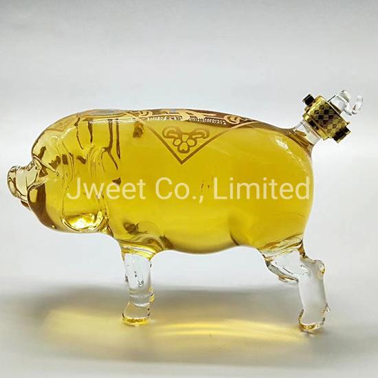 1000ml OEM Animal Wine Glass High Borosilicate Tequila Glass Bottle