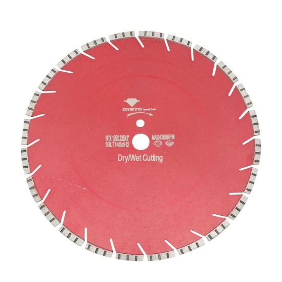 Laser Turbo Premium Diamond Tool Arix Segment Saw Blade for Granite Cutting