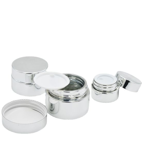 5g 10g 15g 20g 30g 50g Glass Packaging Cream Jars Empty Gold Silver Glass Containers Refillable Cosmetic Vials for Salve Lotion Ointment