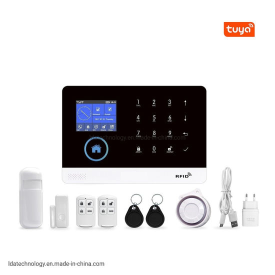 Anti Theft Home Security Kit Tuya WiFi GSM Alarm System Support Alexa Googlehome