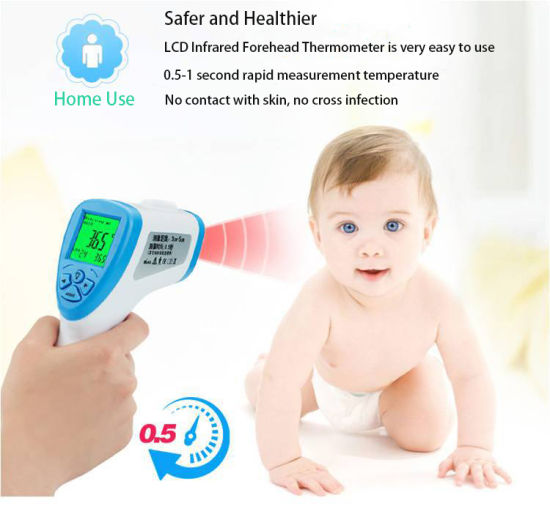 No-Kontakt Stirn Infrarot Medical Digital Thermometer Baby Adult HS